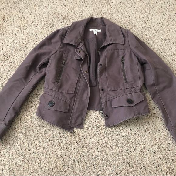 Jackets & Blazers - Ann Taylor Loft Biker Like Jacket Size 10 100% cot